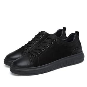 Round Head Solid Color Comfortable and Wearable Casual Shoes for Men (Color:Black Size:36)