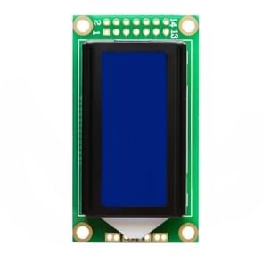 LDTR-WG0239 1 7 inch LCD-scherm 0802B 8 x 2 blauwe karakter module voor Arduino (groen)