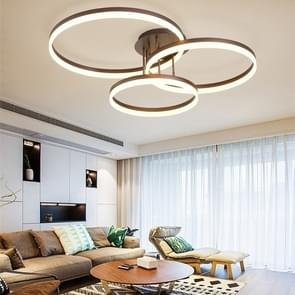 90W Modern Minimalist Atmosphere Living Room Bedroom Restaurant Study Creative Personality LED Ceiling Lamp, Three Circle 110 x 87cm (White Light)