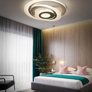 Round Bedroom Atmosphere Fashion Restaurant Multi-layer Acrylic Living Room Lamp, Diameter 500mm (White Light)