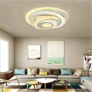 Round Bedroom Atmosphere Stylish Restaurant Multi-layer Acrylic Living Room Lamp, Diameter: 780mm (Warm White)
