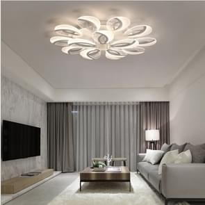 80W Ultra-thin Living Room Simple Modern Atmosphere Warm Bedroom LED Ceiling Lamp, Double Layer 10+5 (White Light)