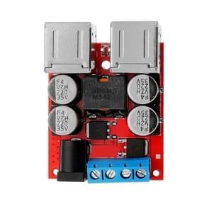 LDTR-WG0245 DC 8V-35V tot 5V 8A power step down module 4-poorts USB mobiele telefoon autolader ondersteuning snel opladen