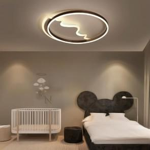 Simple Modern Creative Personality Bedroom Warm Romantic Master Three-Color LED Ceiling Lamp, Diameter: 420mm