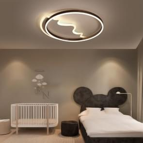 Simple Modern Creative Personality Bedroom Romantic Master Three-Color LED Ceiling Lamp, Diameter: 520mm