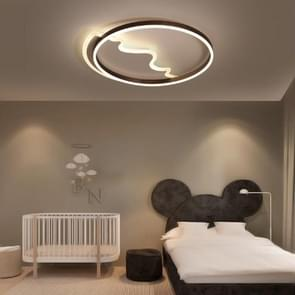 Simple Modern Creative Personality Bedroom Warm Romantic Master Three-Color LED Ceiling Lamp, Diameter: 620mm