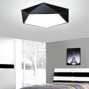 18W Geometric Simple Modern Bedroom Study Room Personality Creative LED Ceiling Lamp, Diameter: 420mm, Black Frame (White Light)