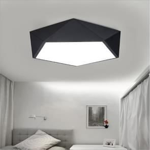 32W Geometric Simple Modern Bedroom Study Room Personality Creative LED Ceiling Lamp, Diameter: 520mm, Black Frame (White Light)