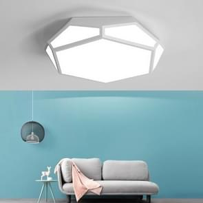 24W Simple Hexagonal Modern Minimalist Creative LED Ceiling Lamp, Diameter: 420mm (White Light)