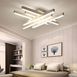 Creative Rectangular Bedroom Warm Living Room Simple Modern LED Ceiling Light, 3+3 Heads, Size: 62 x 62 x 12cm (White Light)