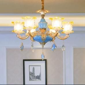 Woonkamer zink legering Home Restaurant slaapkamer sfeervolle Franse Crystal kroonluchter met bollen  6 koppen
