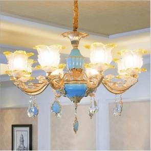 Woonkamer zink legering Home Restaurant slaapkamer atmosferische Crystal kroonluchter met bollen  8 koppen
