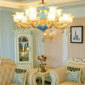 Woonkamer zink legering Home Restaurant slaapkamer atmosferische Crystal kroonluchter met bollen  15 koppen