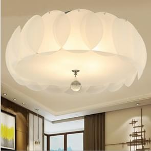 Simple Modern Warm Romantic Glass Round LED Ceiling Light, Diameter: 40cm