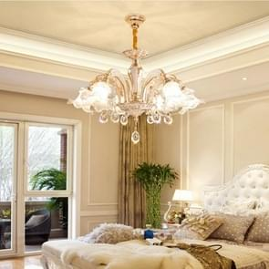 Zinc Alloy Atmosphere Home Living Room Bedroom Villa Modern Dining Room Light Crystal Lamp, 6 Heads