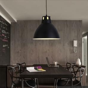 Simple Modern Aluminum Industrial and Mining Engineering Fresh Fruit Market Chandelier without Light Source (Black)