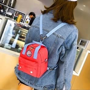 Cavans Double Shoulders Bag Ladies Backpack Messenger Bag (Red)