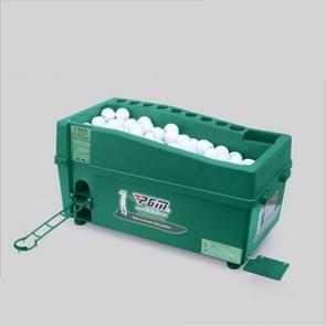 PGM Indoor Golf multifunctionele grote capaciteit automatische bal Machine met Club Rack (groen)