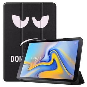 Big Eyes Pattern Colored Painted Horizontal Flip PU Leather Case for Galaxy Tab Advanced2 / T583, with Three-folding Holder