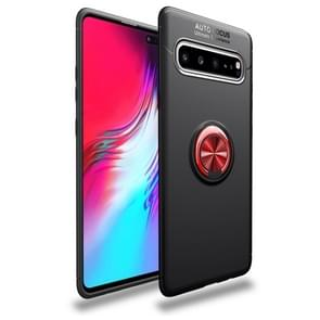 Magnetic 360 Degree Rotation Ring Holder Armor Shockproof TPU Case for Galaxy S10 5G (Red)
