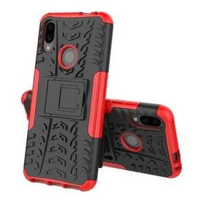 Tire Texture TPU+PC Shockproof Phone Case for Xiaomi Redmi Note 7, with Holder