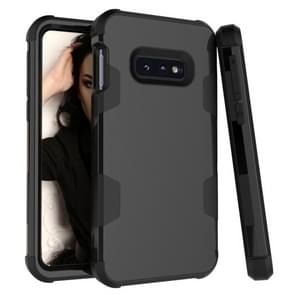 Contrast Color Silicone + PC Shockproof Case for Galaxy S10e (Black)