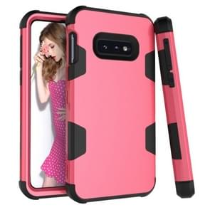 Contrast Color Silicone + PC Shockproof Case for Galaxy S10e (Rose Red)
