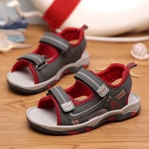 Breathable Lightweight and Soft Wear Resistant Sandals for Children (Color:Red Size:37)