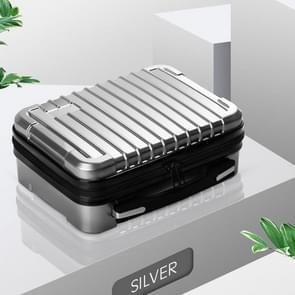 Opbergtas koffer harde shell beschermhoes schokbestendige draagtas voor Hyperice Hypervolt (Zilver)