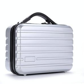 Storage Bag Suitcase Hard Shell Protective Case Shockproof Carrying Box for Hyperice Hypervolt (Silver)