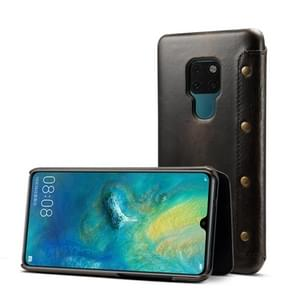 Oil Wax Top-grain Cowhide Horizontal Flip Leather Case for Huawei Mate 20, with Card Slots & Wallet