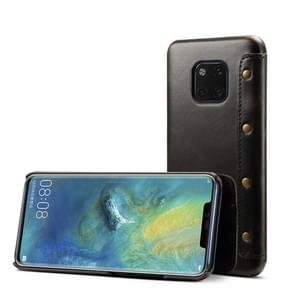 Oil Wax Top-grain Cowhide Horizontal Flip Leather Case for Huawei Mate 20 Pro, with Card Slots & Wallet
