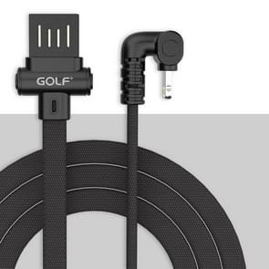 GOLF GC-68I 180 Degree Elbow 8 Pin to USB 3A Fast Charging USB Data Cable for iPhone 7 & 7 Plus, iPhone 6 & 6s, iPhone 6 Plus & 6s Plus (Black)
