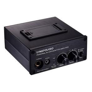LINEPAUDIO B982 power versterker instrument drummer oortelefoon monitor signaal versterker  dubbele XLR-ingang (zwart)