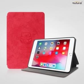 Mutural Lucky Pig Series Horizontal Flip TPU + PU Leather Case for iPad mini 5 / mini 4, with Holder