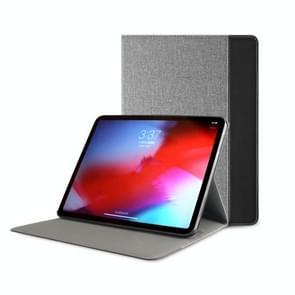 Mutural Britse serie Color Matching PC + canvas PU lederen case voor iPad Pro 12 9 inch (2018)  met houder & pen slot