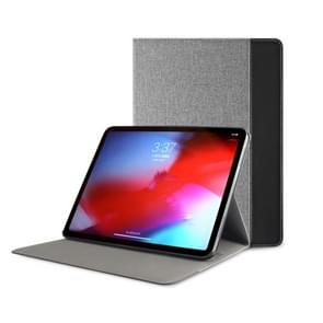 Mutural British Series Color Matching PC + Canvas PU Leather Case for iPad Pro 11 inch (2018), With Holder & Pen Slot