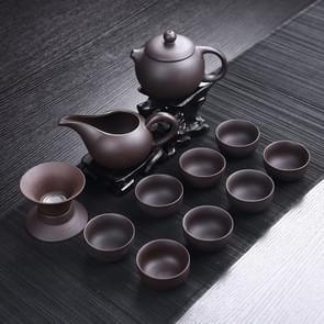 12 in 1 zwart paars Clay keramische thee set Kungfu theepot serveren kopje theekopje Chinese Drinkware