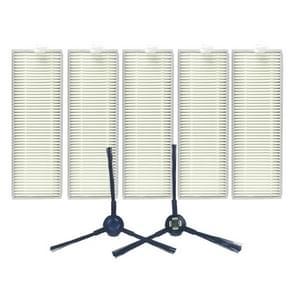 XI287 5 stuks I259 filter + 1 paar I258 kant borstel voor ILIFE A7/A9