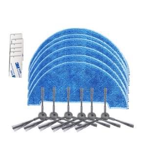 XI293 3 paar K614 kant borstels + 6 stuks K636 lompen + 6 stuks G604 magische zelfklevende sticker voor ILIFE A4