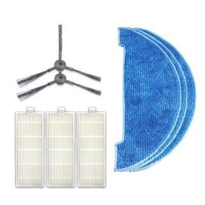 XI294 1 paar K614 side brushes + 3 stuks K636 lompen + 3 stuks I207 filters voor ILIFE A4/T4