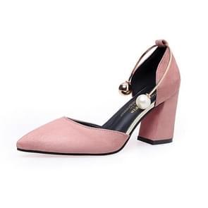 Jeugd trend Fashion Suede dikke bottom hoge hakken voor vrouwen (kleur: roze grootte: 39)