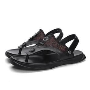 Comfortabel en ademend twee-Wear casual strand schoenen voor mannen (kleur: zwart maat: 38)