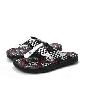 Jeugd trend geweven textuur slippers voor mannen (kleur: zwart wit grootte: 38)