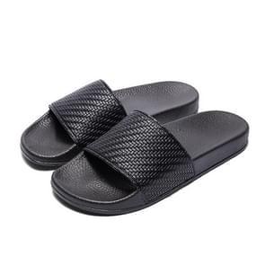 Grid textuur mode slip draagbare Home paar slippers (kleur: zwart grootte: 36)