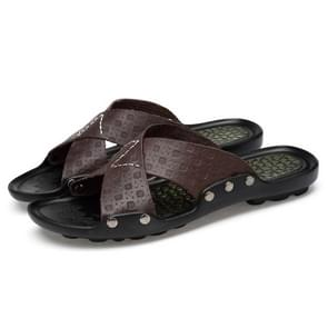 Comfortabele ademende non-slip draagbare slippers voor mannen (kleur: bruin maat: 42)