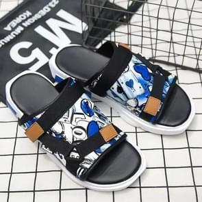 Afgedrukt denim Horsebit gesp lichtgewicht comfortabele slippers voor mannen (kleur: blauw maat: 44)