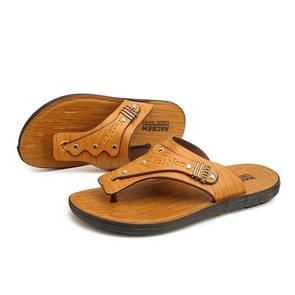 Jeugd trend non-slip slijtage-resistente flip-flops voor mannen (kleur: licht bruin grootte: 44)