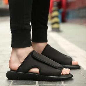 Mesh ademend lichtgewicht comfortabele trend slippers voor mannen (kleur: zwart grootte: 43)
