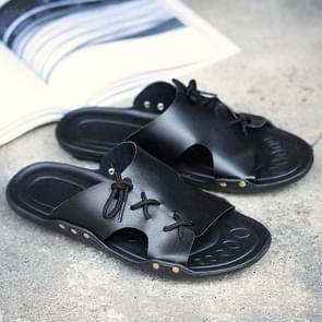 Trendy mode wild lichtgewicht slippers voor mannen (kleur: zwart maat: 39)
